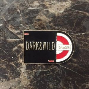 BTS dark and wild enamel pin